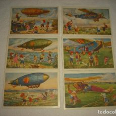Postales: SERIE AVIACION . EDICIONS CATALANES . LOCFON . 6 POSTALES. Lote 62166008
