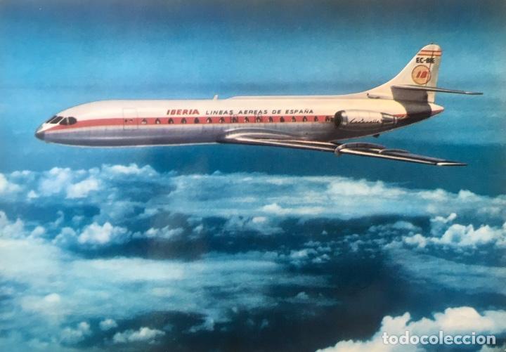 IBERIA CARAVELLE C-R EX- BIE FOTO POSTAL (Postales - Postales Temáticas - Aeroplanos, Zeppelines y Globos)