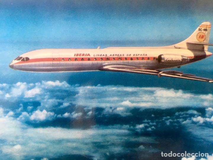 Postales: Iberia caravelle C-R ex- BIE foto postal - Foto 2 - 64460047