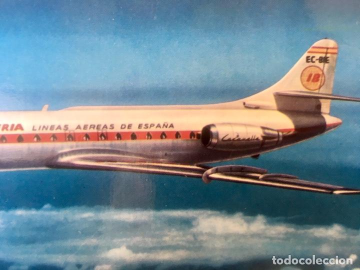 Postales: Iberia caravelle C-R ex- BIE foto postal - Foto 3 - 64460047