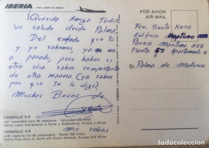 Postales: Iberia caravelle C-R ex- BIE foto postal - Foto 5 - 64460047