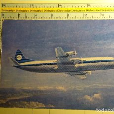 Postales: POSTAL DE AVIACIÓN, AVIONES, AEROPUERTOS, AERONAÚTICA. AVIÓN LOCKHEED ELECTRA II DE KLM. 89. Lote 68083541