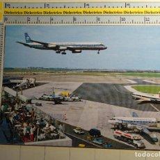 Postales: POSTAL DE AVIACIÓN AERONÁUTICA AVIONES. AEROPUERTO SCHIPHOL DE AMSTERDAM, HOLANDA. AVION SAS KLM 598. Lote 245494430