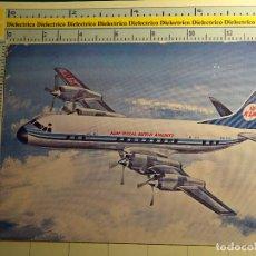 Postales: POSTAL DE AVIACIÓN AERONÁUTICA AVIONES. AVIÓN DE AEROLÍNEAS KLM HOLANDA. LOCKHEED ELECTRA. 612. Lote 68307341