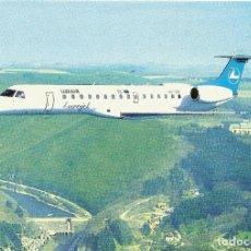 Postales: ** PN974 - POSTAL - EUROJET ERJ 145 - LUXAIR LUXEMBOURG AIRLINES - RF. P00. Lote 68402105