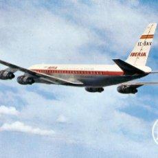 Postales: POSTAL, IBERIA, JET DOUGLAS DC-8 TURBOFAN, SIN CIRCULAR. Lote 68608357