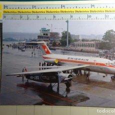 Postales: POSTAL DE AVIACIÓN AERONÁUTICA AVIONES. AVIÓN SWISSAIR, SUIZA. 160. Lote 68701581