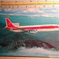 Postales: POSTAL DE AVIACIÓN, AVIONES, AEROPUERTOS, AERONAÚTICA. AVIÓN LOCKHEED L-1011 TRISTAR. 521. Lote 222639257