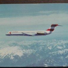 Postales: AIR LINES AUSTRIAN MCDONALD DOUGLAS MD-81. Lote 71097385