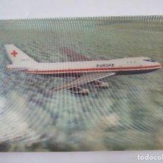 Postales: POSTAL AVION - PK 308 JUMBO JET EUROPE 2 - DATADA 1974 - TRIDIMENSIONAL - EFECTO 3D. Lote 71338799