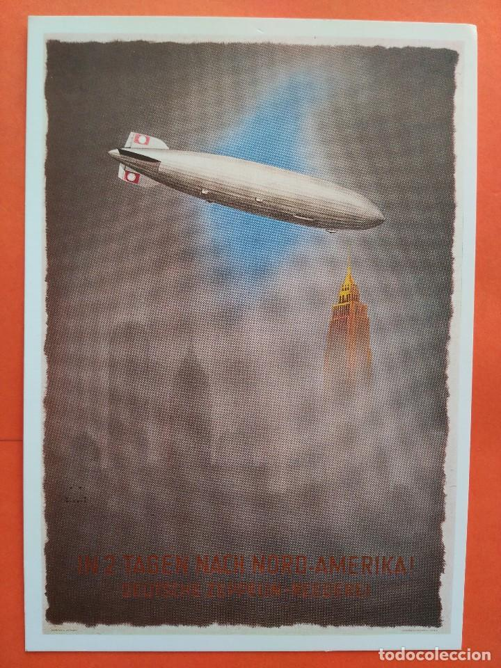 POSTAL ZEPPELIN IN NORTEAMERICA1936 - MUSEO ZURICH - NO CIRCULADA (Postales - Postales Temáticas - Aeroplanos, Zeppelines y Globos)