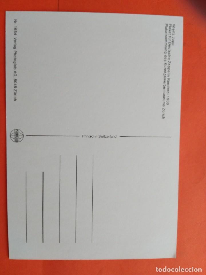 Postales: POSTAL ZEPPELIN IN NORTEAMERICA1936 - MUSEO ZURICH - NO CIRCULADA - Foto 2 - 71639851