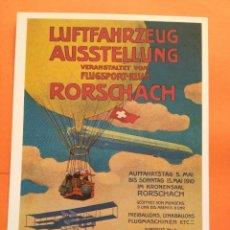 Postales: POSTAL ZEPPELIN AUFFAHRTSTAG RORSCHACH 1910 - VERLAG ZURICH - NO CIRCULADA. Lote 71641071