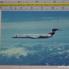 Postales: POSTAL DE AVIACIÓN AERONÁUTICA AVIONES. AVIÓN DE AUSTRIAN AIRLINES MCDONNELL DOUGLAS. 798. Lote 72081975
