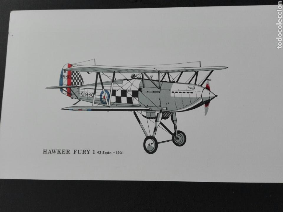 HAWKER FURY 1 1931 (Postales - Postales Temáticas - Aeroplanos, Zeppelines y Globos)