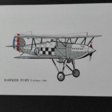 Postales: HAWKER FURY 1 1931. Lote 74152275