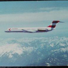 Postales: AUSTRIAN AIRLINES MCDONALD DOUGLAS MD-81. Lote 74683130