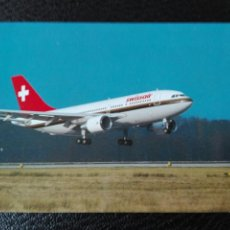 Postales: SWISS AIR AIRBUS A310 EUROPA. Lote 74683285