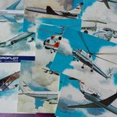 Postales: 16 POSTALES DE LA AVIACIÓN RUSA AEROFLOT. Lote 74703438
