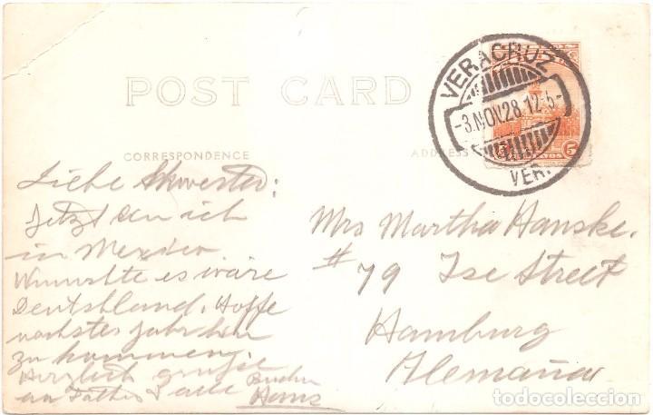 Postales: HOMENAJE A LOS ASES DE LA AVIACIÓN ESPAÑOLA . POSTAL FOTOGRÁFICA CIRCULADA EN 1928 VERACRUZ - Foto 3 - 75094459