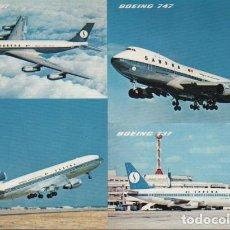 Postales: POSTAL AVIÓNES BOEING 747 - 737 Y 707- DC 10. Lote 75552559