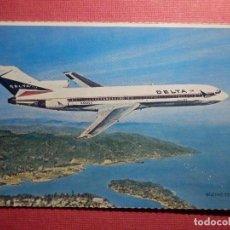 Postales: POSTAL - AVION - BOEING 727-232 - DELTA AIRLINES - ESCRITA EN 1981. Lote 75633599