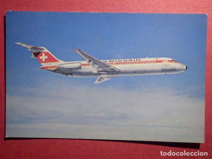 POSTAL - AVION - MCDONNELL DOUGLAS - DC-9-32 - SWISSAIR - NE - NC (Postales - Postales Temáticas - Aeroplanos, Zeppelines y Globos)