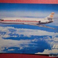 Postales: POSTAL - AVION - SUD AVIATION - CARABELLE X - R - IBERIA - RUAN .S.A.. Lote 75639871