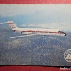 Postales: POSTAL - AVION - DOUGLAS DC-9 - IBERIA - PLUMERSA. Lote 75640075