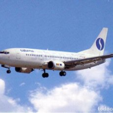 Postales: POSTAL AEROLINEAS SABENA BOEING B 737. Lote 76082943