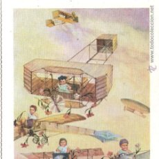 Postales: REPRODUCCION POSTAL ANTIGUA AEROPLANOS - E.ANTALBE - SIN CIRCULAR. Lote 81140936