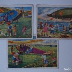 Postales: LOTE DE 3 POSTALES EDICIONES CATALANAS LOCFON - BARCELONA (SÈRIE AVIACIÓ) 1930 Nº 3, 4 Y 6. Lote 81916172