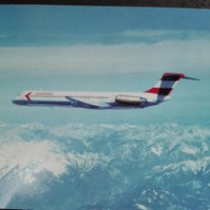 Postales: AUSTRIAN AIRLINES MCDONALD DOUGLAS MD-81. Lote 82018159