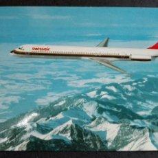 Postales: SWISSAIR DOUGLAS DC 9 81. Lote 82018578