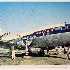 Postales: P-6597. UNITED'S DC-6 LINEA DESDE SAN FRANCISCO Y LOS ANGELES. AÑOS 50. UNITED AIR LINES.. Lote 83643108