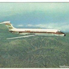 Postales: POSTAL AVIÓN JET DOUGLAS DC-9 SERIE 30 DE IBERIA. Lote 84388104