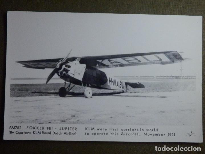 POSTAL - AVIONES - AVION AM762 FOKKER FIII JÚPITER - PAMLIN PRINTS , CROYDON - NE - NC (Postales - Postales Temáticas - Aeroplanos, Zeppelines y Globos)