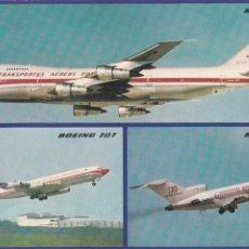 Postales: POSTAL TAP. AEROLINEAS DE PORTUGAL. BOEING 747, BOEING 707 Y BOEING 727. Lote 88361828