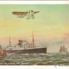 Postales: THE NEALE BIPLANE AND SUBMARINE FLOTILLA - E. ANTALBE - REPRODUCCIÓN - S/C. Lote 88519056