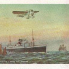 Postales: THE LANE MONOPLANE & OCEAN MAIL STEAMER - E.ANTALBE (REPRODUCCIÓN) - S/C. Lote 88519444