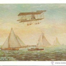 Postales: THE HOWARD WRIGHT BIPLANE & YACHTS IN THE SOLENT - E. ANTALBE (REPRODUCCION) - S/C. Lote 88520552