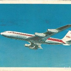 Postales: TWA, TRANS WORLD AIRLINES - LITHO IN U.S.A. - CIRCULADA - (14X9). Lote 103264166