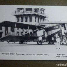 Postales: POSTAL - AVIONES - AVION RAYON D´OR - PASSANGER BIPLANE AT CROYDON C1932 - NE - NC. Lote 95780759