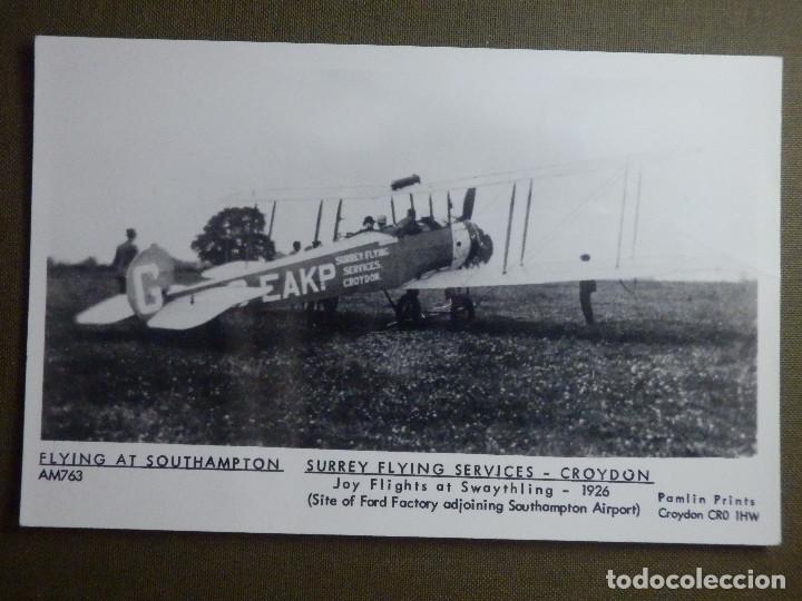 POSTAL - AVIONES - AVION SURREY FLYING SERVICES CROYDON CR0 1HW 1926 - NE - NC (Postales - Postales Temáticas - Aeroplanos, Zeppelines y Globos)