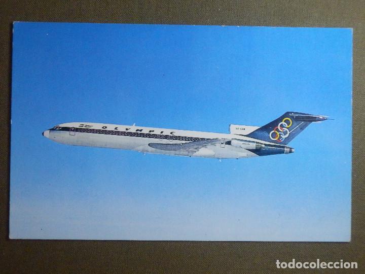 POSTAL - AVIONES - AVION - OLYMPIC AIRWAYS - BOING 727-200 - NE - NC (Postales - Postales Temáticas - Aeroplanos, Zeppelines y Globos)