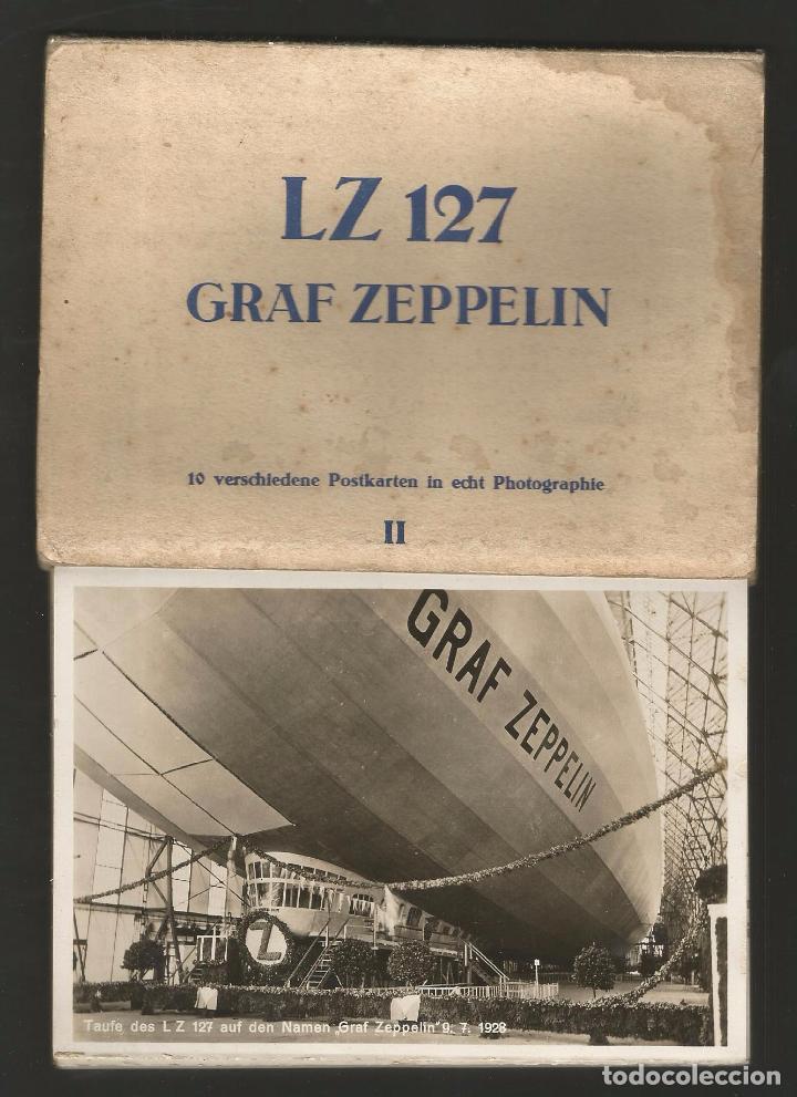 LZ 127 GRAF ZEPPELIN - LIBRO-ACORDEÓN CON 10 POSTALES (Postales - Postales Temáticas - Aeroplanos, Zeppelines y Globos)