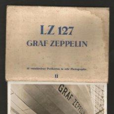 Postales: LZ 127 GRAF ZEPPELIN - LIBRO-ACORDEÓN CON 10 POSTALES. Lote 96619675