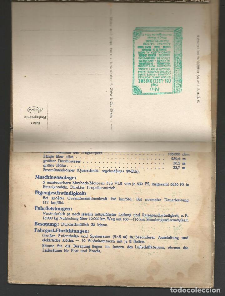 Postales: LZ 127 GRAF ZEPPELIN - LIBRO-ACORDEÓN CON 10 POSTALES - Foto 3 - 96619675