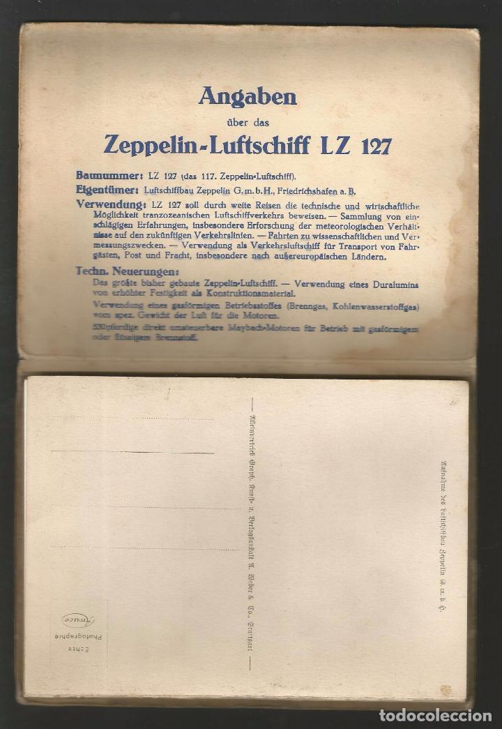Postales: LZ 127 GRAF ZEPPELIN - LIBRO-ACORDEÓN CON 10 POSTALES - Foto 4 - 96619675