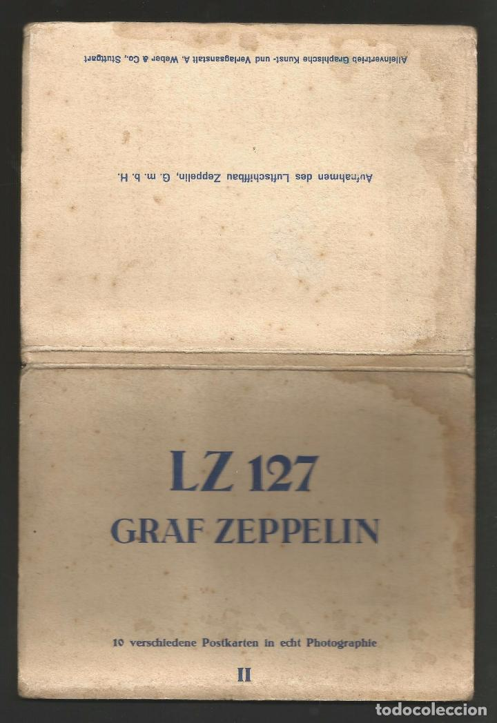 Postales: LZ 127 GRAF ZEPPELIN - LIBRO-ACORDEÓN CON 10 POSTALES - Foto 5 - 96619675